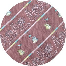 Ghibli - Totoro & Nekobus - Necktie - Silk - Jacquard Weaving - scribble - rose -2007 (new)