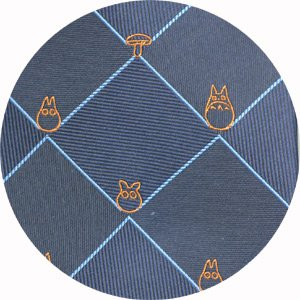 Ghibli - Totoro - Necktie - Silk - Jacquard Weaving - check - navy - SOLD OUT (new)