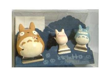 Ghibli - Totoro & Chu & Sho Totoro - 3 Clip Set #2 - VERY RARE - SOLD OUT (new)