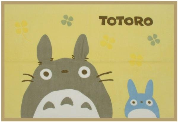Ghibli - Totoro & Chu Totoro - Blanket (S) 70x100cm - Cotton & Embossing - Clover - SOLD OUT (new)