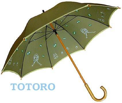 Ghibli - Totoro & Sho Totoro & Nekobus & Kurosuke - Umbrella - green - 2007 (new)