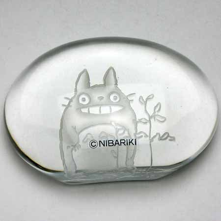 Paper Weight - Crystal - grass - Noritake - Totoro - Ghibli - no production (new)