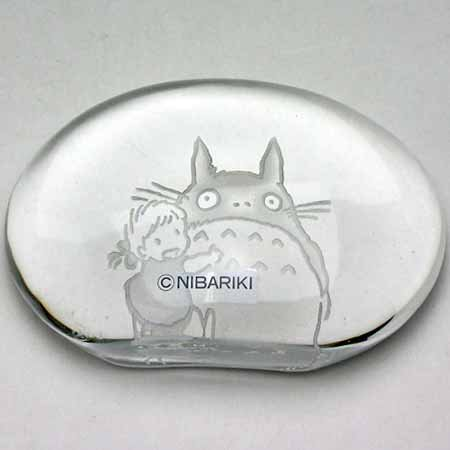 1 left - Paper Weight - Crystal - Noritake - Totoro & Mei - Ghibli - no production (new)