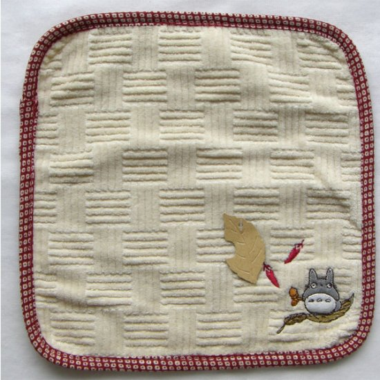 Ghibli - Totoro - Mini Towel - Embroidered - sail - red - 2007 - SOLD OUT (new)