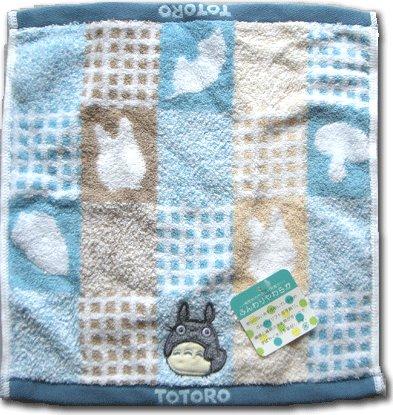 Ghibli - Totoro - Hand Towel - Totoro Applique - fluffy - blue (new)