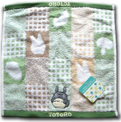 Ghibli - Totoro - Hand Towel - Totoro Applique - fluffy - green (new)