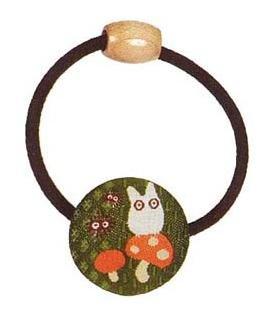 Ghibli - Sho Totoro & Kurosuke - Hair Band - Ornament - weaved design - mushroom - 2007 (new)