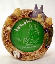 Ghibli - Totoro & Sho - Photo Frame & Music Box - round - acorn - out of production - SOLD (new)
