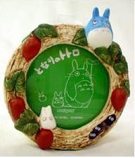 Ghibli - Chu & Sho Totoro - Photo Frame - round - snake gourd - out of production - SOLD (new)