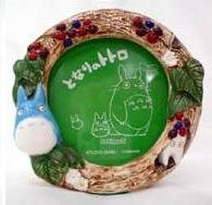 Ghibli - Chu & Sho Totoro - Photo Frame & Music Box - round -grape-out of production-RARE-SOLD(new)