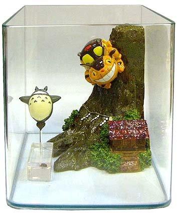 Ghibli - Totoro & Sho Totoro & Nekobus - Aqua Plant Tank DX - 2007 - SOLD (new)