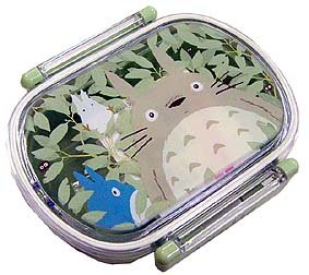 SOLD - Lunch Bento Box - microwave - oval- made in Japan - Totoro - 2007 - out of production (new)