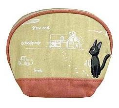 Ghibli - Kiki's Delivery Service - Pouch - Jiji Embroidered-round-outproduction-RARE-SOLD(new)
