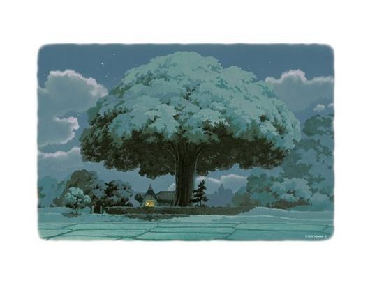 300 pieces Jigsaw Puzzle - Oga Kazuo - yoru no gensou - House & Tree - Totoro - Ghibli (new)