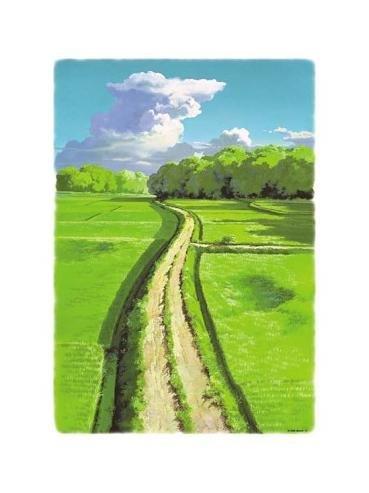 500 pieces Jigsaw Puzzle - Oga Kazuo - Rice Field - natsu no azemichi - Totoro - Ghibli (new)