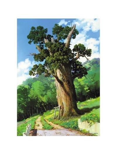 108 pieces Jigsaw Puzzle - Oga Kazuo - osugi to torii - Spirited Away - Ghibli - Ensky (new)
