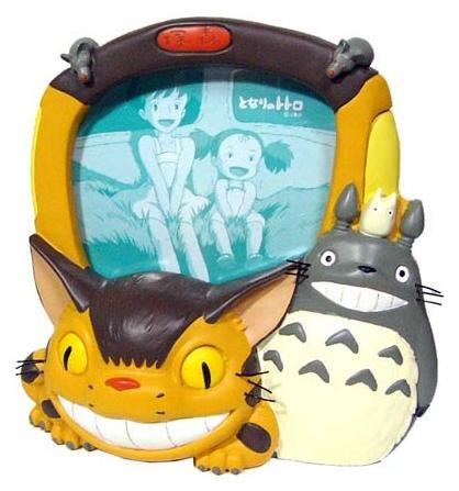 SOLD - Photo Frame - Stand - Totoro & Sho Totoro & Nekobus - Ghibli - 2007 - no production (new)