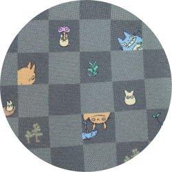 Ghibli - Totoro & Chu & Sho Totoro - Necktie - Silk - cube - gray - 2007 (new)