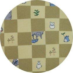 Ghibli - Totoro & Chu & Sho Totoro - Necktie - Silk - cube - cream - 2007 (new)