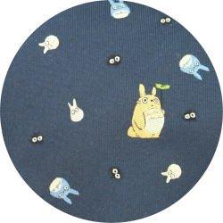Ghibli - Totoro & Chu & Sho & Kurosuke - Necktie - Silk - Jacquard - navy - 2007 - SOLD (new)