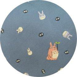 Ghibli - Totoro & Chu & Sho & Kurosuke - Necktie - Silk - Jacquard - blue - 2007 - SOLD (new)