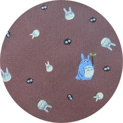 Ghibli - Totoro & Chu & Sho & Kurosuke - Necktie - Silk - Jacquard - rose - 2007 - SOLD (new)
