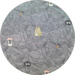 Ghibli - Totoro & Sho & Kurosuke - Necktie - Silk - Jacquard Weaving - leaf - gray -2007-SOLD(new)