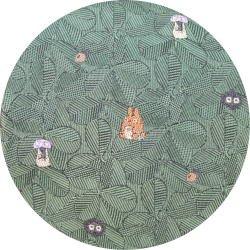 Ghibli - Totoro & Sho & Kurosuke - Necktie - Silk - Jacquard Weaving - leaf - green -2007-SOLD(new)