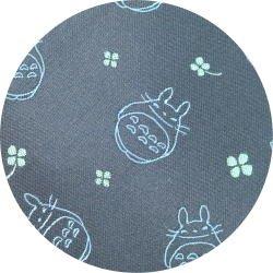 Ghibli - Totoro - Necktie - Silk - Jacquard Weaving - clover - navy - 2007 - RARE (new)