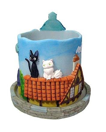 Ghibli - Kiki's Delivery Service - Jiji & Lily - Planter Pot & Water Tray - 2007 (new)