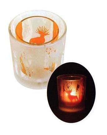 Ghibli - Mononoke - Shishigami & Kodama - Tealight & Candle Holder - Duet Glass - 2007 (new)