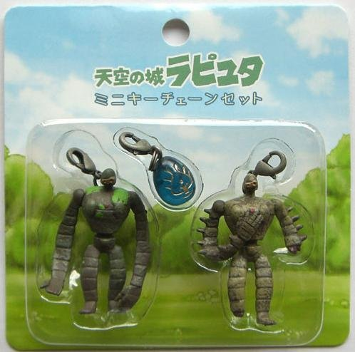 3 Hook Set - 2 Robot & Flying Stone  - Laputa - Ghibli - 2007 (new)
