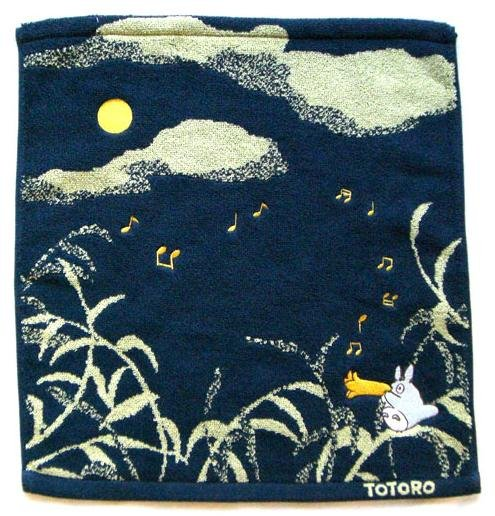 Ghibli - Totoro - Hand Towel - Embroidered - sky - navy - 2007 (new)