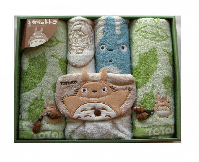 Towel Gift Set - Mini & Dress & Wash & 2 Face - Applique & Acorn Mascot - Totoro - 2007 (new)