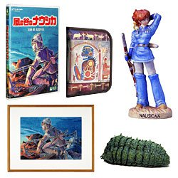 Nausicaa DVD Collectors Box - Ohm & Nausicaa Figure & Art & DVD & Case (new)