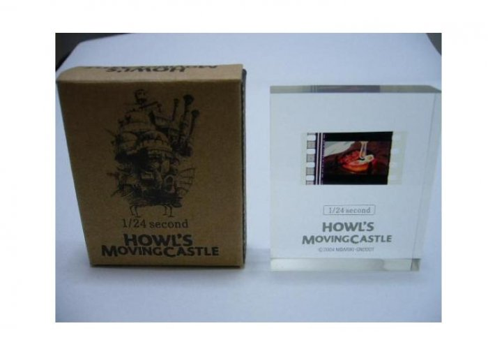 Ghibli - Howl's Moving Castle - 1/24 Second Film in Cube - Calcifer & Bacon & Egg - SOLD OUT (new)