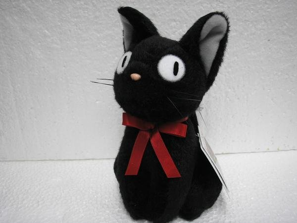 Ghibli - Kiki's Delivery Service - Sitting Jiji (S) - H18cm - Plush Doll - 32%OFF - SOLD OUT (new)
