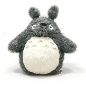 10%OFF - 1 left - Plush Doll M - H27cm - Dark Gray Totoro - Ghibli - Sun Arrow (new)