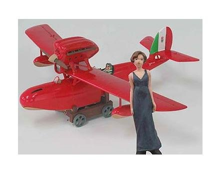 Gina Figure & Plastic Model Kit - Savoia S.21 After - Scale 1/48 - Porco - Ghibli (new)