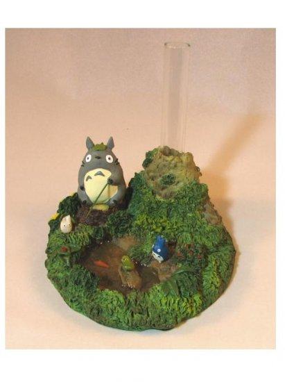 Small Vase - fishing - Totoro & Chu & Sho Totoro - Ghibli (new)