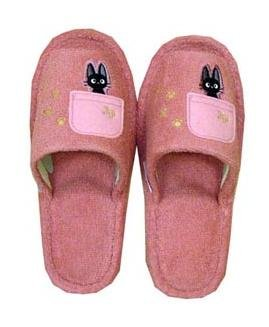 Slipper - Jiji Embroidered - pink - Kiki's Delivery Service - Ghibli (new)