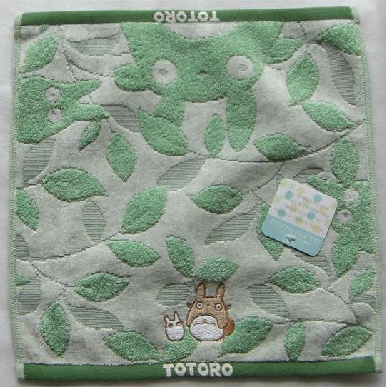 Ghibli - Totoro - Hand Towel - Totoro & Sho Totoro Embroidered - leaf - green - 2008 (new)