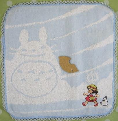 Ghibli - Totoro - Mini Towel - Sho Totoro Applique & Mei Embroidered - cloud - blue - 2008 (new)