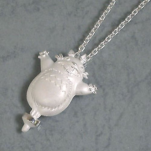 1 left - Necklace - Sterling Silver 925 - Totoro on Top - made Japan - Cominica -no production (new)