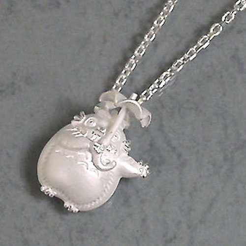 Necklace -Sterling Silver 925- Totoro Umbrella-Original Studio Ghibli Box-made Japan- Cominica (new)