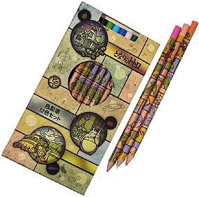 Ghibli - Totoro - 12 Color Pencil in Case Set - andon - 2008 (new)