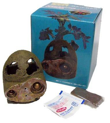 2 left- Mini Planter Pot & Seed & Soil Set - Mini Tomato Laputa Robot Head -2008 no production (new)