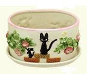 Ghibli - Kiki's Delivery Service - Jiji - Planter Pot & Water Tray - Hakuun Ceramics - 2008 (new)