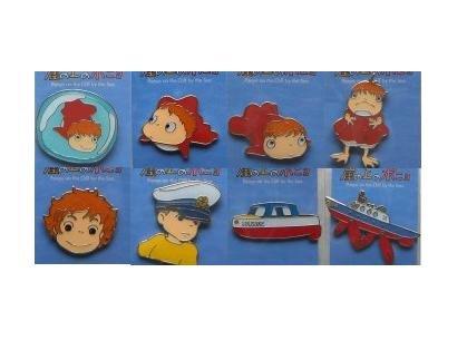 SOLD - 8 Pin Badge Set - Ponyo - Ghibli - 2008 - no production (new)