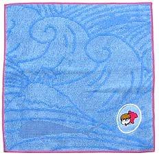 Mini Towel - Ponyo Embroidered - Jacquard Weaving - Ghibli - 2008 (new)